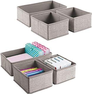 mDesign boîte de rangement – lot de 6 – petit panier de rangement idéal pour vos stylos, blocs-notes autocollants, trombon...