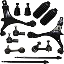 Detroit Axle - 12pc Front Suspension Kit for 2002 2003 2004 2005 2006 Honda CR- Both (2) Front Lower Control Arms, 2 Lower Ball Joints, All 4 Inner & Outer Tie Rod, 2 Sway Bar, 2 Tie Rod Boots