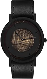South Lane Swiss Quartz Stainless Steel and Leather Casual Watch, Color:Black (Model: core-SL-59)