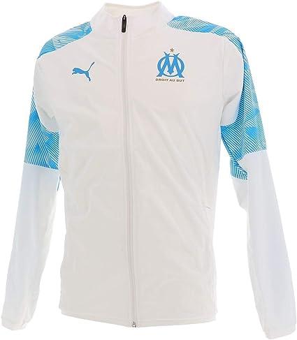 White PUMA 2019-2020 Marseille Stadium Jacket