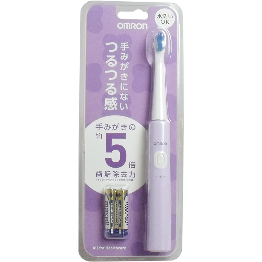認識時折みぞれオムロンヘルスケア 音波式電動歯ブラシ パープル HT-B210-V