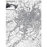 Map Pigot 1819 Manchester Salford England Plan Chart Extra Large XL Wall Art Poster Print Mapa Inglaterra Pared Impresión del Cartel