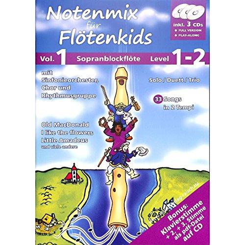 Notenmix für Flötenkids 1 - Sopranblockflöte Noten [Musiknoten]