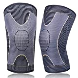 Copper Knee Support for Running Knee Brace for Women & Men Arthritis Pain Relief and Support Compression Knee Sleeve for Running,Workout,Gym,Weightlifting,Cycling(1Pairs,Golden,M)
