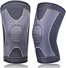 GP 2Pack Copper Knee Brace Sleeves for Women & Men Arthritis Pain Relief and Support Compression Knee Sleeve for Running,Workout,Gym,Weightlifting,Cycling( Golden, L)