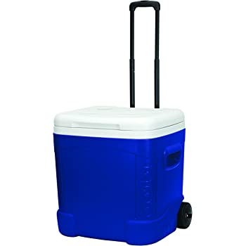 IGLOO Ice Cube Roller – Cooler (60-Quart, Océano Azul)