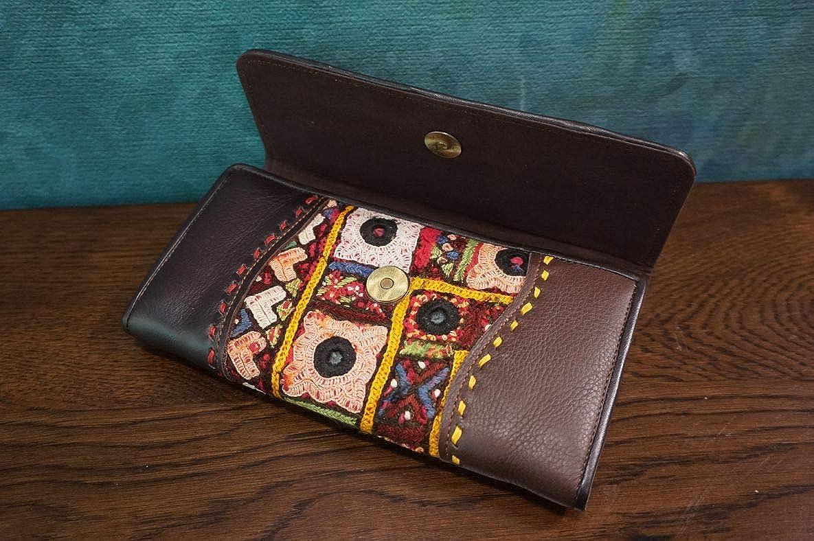 Hand Embroidered Vintage Women Leather Clutch Evening Bag Elegant Handbag for Dress and Party #103