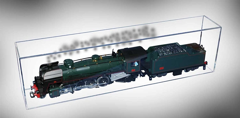 Modellhaube ohne Sockel für Modelleisenbahn Spur 1, LBH 70x16x26 cm