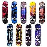 Unibest Skateboard Deck Funboard Holzboard komplett 80x20cm...