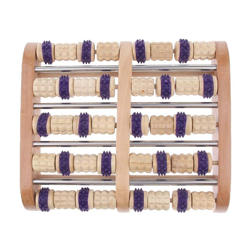 によると捧げる悪用Baoblaze デュアルフットマッサージローラー 家庭用 サロン用 フットマッサージ 木製 高品質