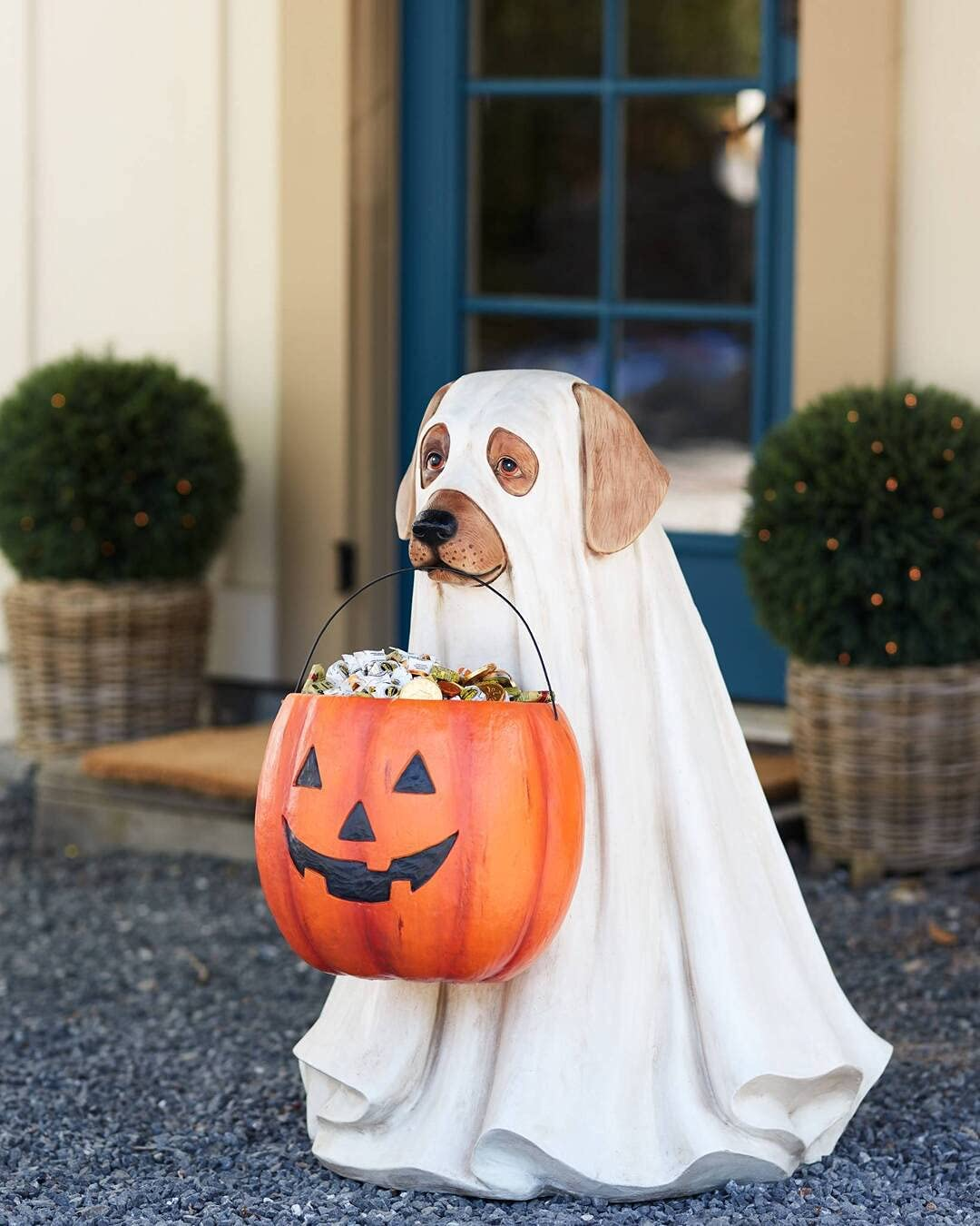 Ghost Dog Candy Bowl Holder with Many popular brands Pumpk Limited price Size 25cm Halloween Life