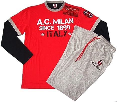 Pigiama Tuta Uomo AC Milan Abbigliamento Squadre Calcio 10318