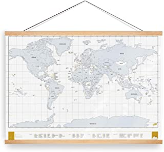 Lisol 24x36 Poster Frame Scratch Off Map 36