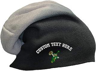 d7f2ff3780e Custom Text Embroidered Irish Man Football Acrylic Slouch Beanie Skully Hat