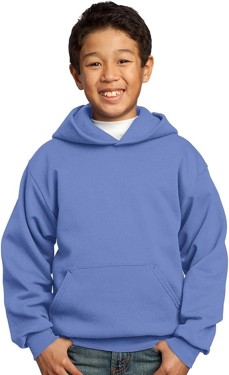 Port Company Boys' Pullover Hooded Max 88% OFF Carolina Latest item Blue Sweatshirt M