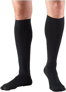 Truform Compression Socks, 8-15 mmHg, Men's Dress Socks, Knee High Over Calf Length, Black, Medium