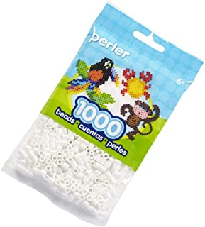 Perler Beads Fuse Beads for Crafts, White, 1000pcs