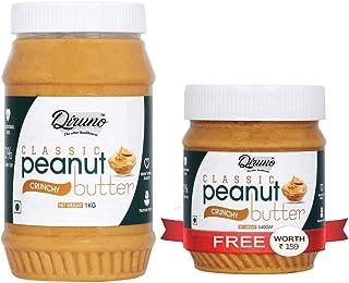 Diruno® Classic Peanut Butter Crunch 1 KG (Gluten Free / Non-GMO / Vegan) (Buy 1kg Get 340g Free)