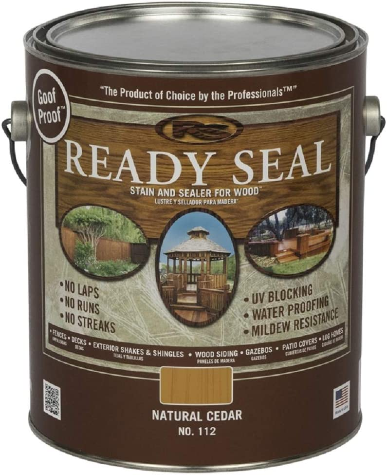 Ready Seal 2021 new 112 Natural Clearance SALE Limited time Cedar and Stain Wood Sealer Exterior