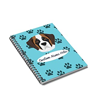 Personalized St Bernard Dog Spiral Notebook - Custom Saint Dogs Mom Dad Gift Kids Gifts