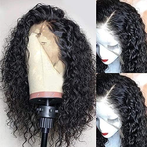 Andrai Hair Short Bob Curly Lace Front Wigs Glueless Lace Wig Synthetic Heat Resistant Fiber Hair Wig With Baby Hair For Black Women 14 Inch