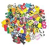 100 Pcs Different PVC Shoe Charms,Shoes Charm Cartoon Lovely Shoes Decoración Pulsera Charms Favores De Fiesta,los mejores regalos para adultos, adolescentes, niños y niñas