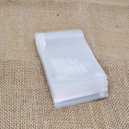 Piore 50 stks veel plastic transparante cellofaan stip snoep cookie gift bag met diy zelfklevende pouch voor bruiloft verjaardagsfeestje, S08