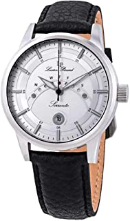 Lucien Piccard Men's LP-10154-02S Sorrento Stainless Steel Watch with Leather Band