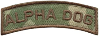LEGEEON Alpha Dog Shoulder Tab Multicam OCP US Army Military Morale Tactical Fastener Patch