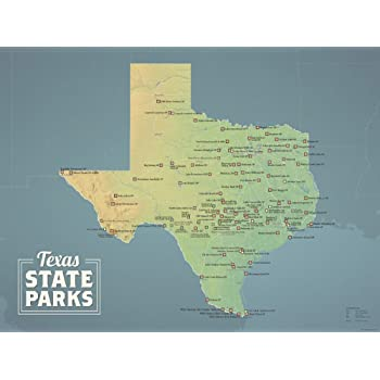Map Of State Parks In Texas Amazon.com: Best Maps Ever Texas State Parks Map 18x24 Poster