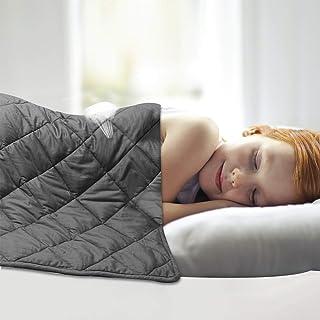 Leefun Gewichtsdecke 135x100CM,3kg Therapiedecke, 100% Baumwolle 7 Schichten Schwere Decke für Kinder Gegen Schlafstörung und Stress