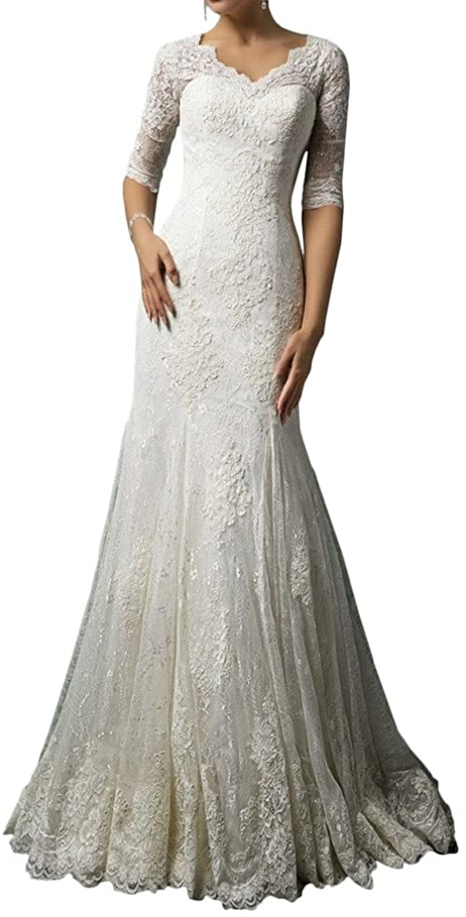 MILANO BRIDE Modest Wedding Dress for V-N 日本 Lace Bride 2 格安SALEスタート Sleeves 1