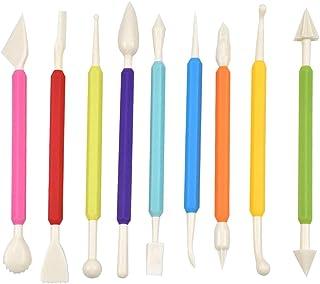 AvoDovA Outils de Modelage Pâtisserie, 9 Pcs Stylos de Couteau à Fondant à Double Extrémité, Ustensiles pour Décoration Gâ...