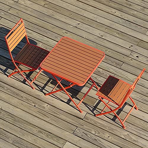 BIANGEY 3 PCS Muebles de Madera plásticos, Conjunto de bistró, 2 sillas...