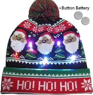 Lancei El Sombrero Que Brilla intensamente llevó el Casquillo de Lana de Punto Ligero Colorido para la Navidad charmingly masterwork Exceptional