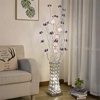 Decor Led Floor Lamp Creative Simple Decoration Personality Vase Aluminum Floor Lamp for Living Room Bedrooms,Footswitch