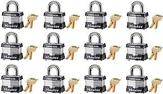 "Master Lock 3KA-3210 1-1/2"" Laminated Keyed Alike Padlocks - Quantity 12"