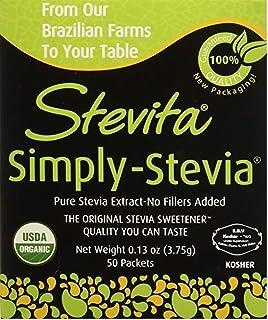 Stevita Simply Stevia .13 oz, 50 Packets per Box (Pack of 3 Boxes)