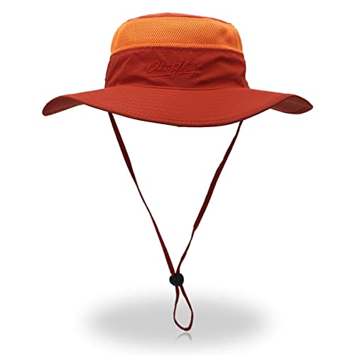 a49e00e3130 Outfly Wide Brim Sun Hat Mesh Bucket Hat Lightweight Bonnie Hat Perfect for  Outdoor Activities