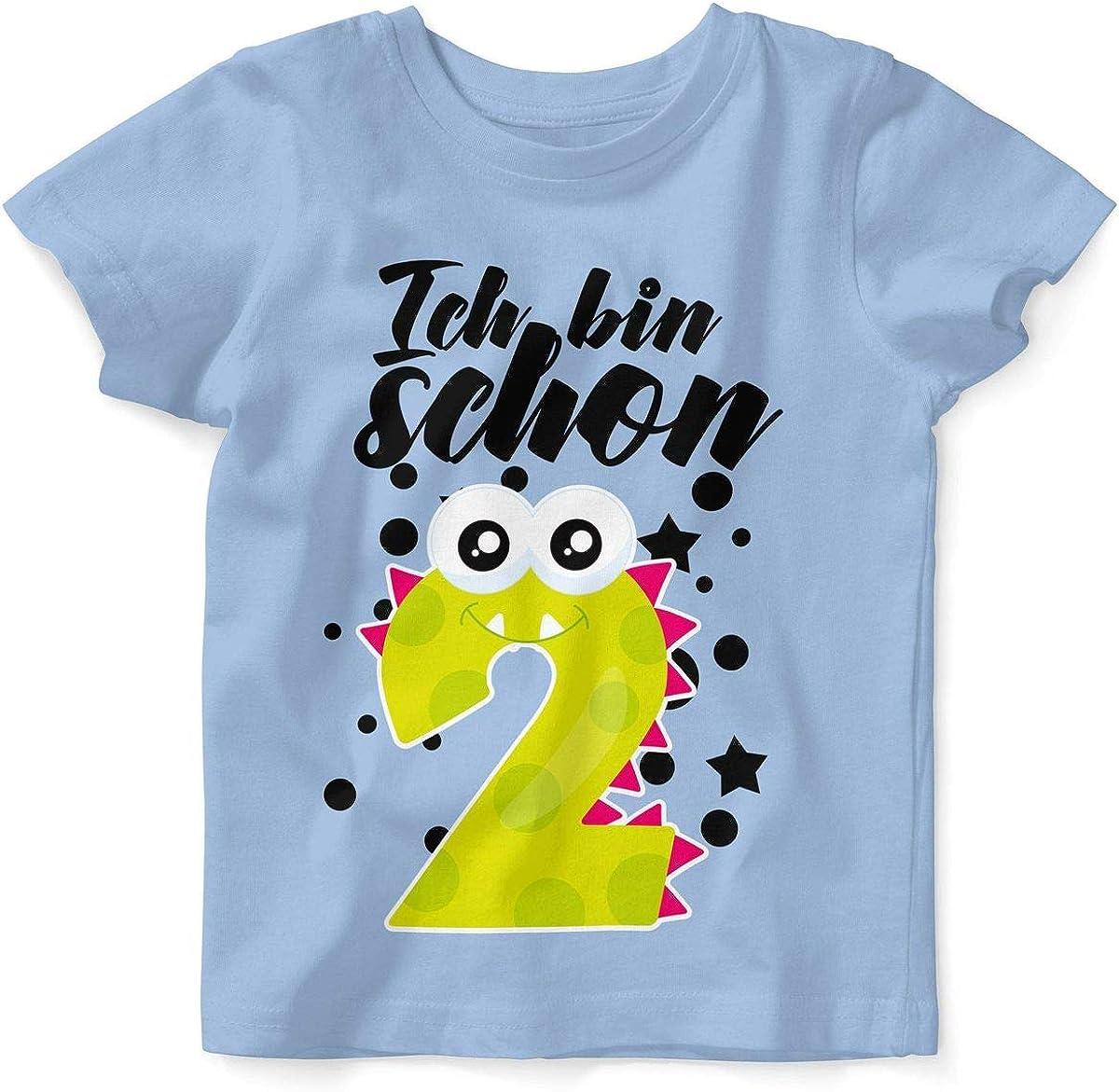 T-Shirt bedruckt mit Motiv Mädchen Seepferdchen weiß Jungen cooles Shirt fun