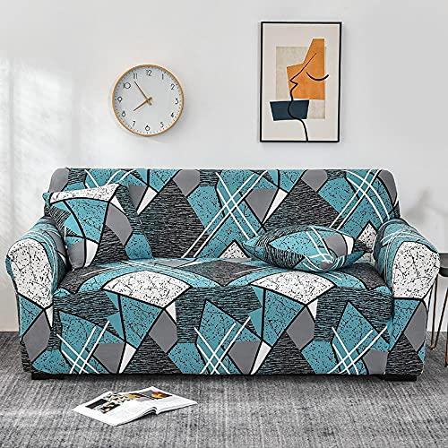 PPOS Fundas de sofá elásticas de celosía para Sala de Estar Funda de sofá elástica para Silla de Esquina Funda de sofá en Forma de L Funda Protectora de Polvo D17 1 Asiento 90-140cm-1pc