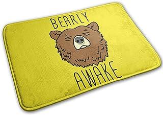 Suzen95 Bearly Awake Sleep Doormat Entrance Mat Floor Mat Rug 23.6 X 15.7 Inch