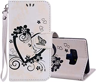 New Embossed Heart Butterfly Pattern Horizontal Flip Leather Case for Galaxy Note9, with Card Slot & Holder & Wallet & Lanyard(Gold) Starxx (Color : Beige)