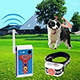 JUSTPET Dog Wireless Fence Electric Outdoor Training Collar 2 in 1 System, Safe Effective Dog Fence Adjustable Remote Shock Training Collar, Rechargeable Waterproof Beep/Vibrate/Shock Collar