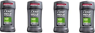 Dove Men+Care Antiperspirant Deodorant Stick, Extra Fresh, 2.7 Ounce (Pack of 4)