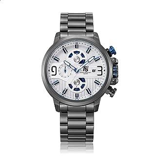 T5 H3610G-F Round Stainless Steel Analog Watch for Men - Dark Grey