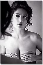 Salma Hayek Sexy Naked Black & White Refrigerator Magnet Size 2.5