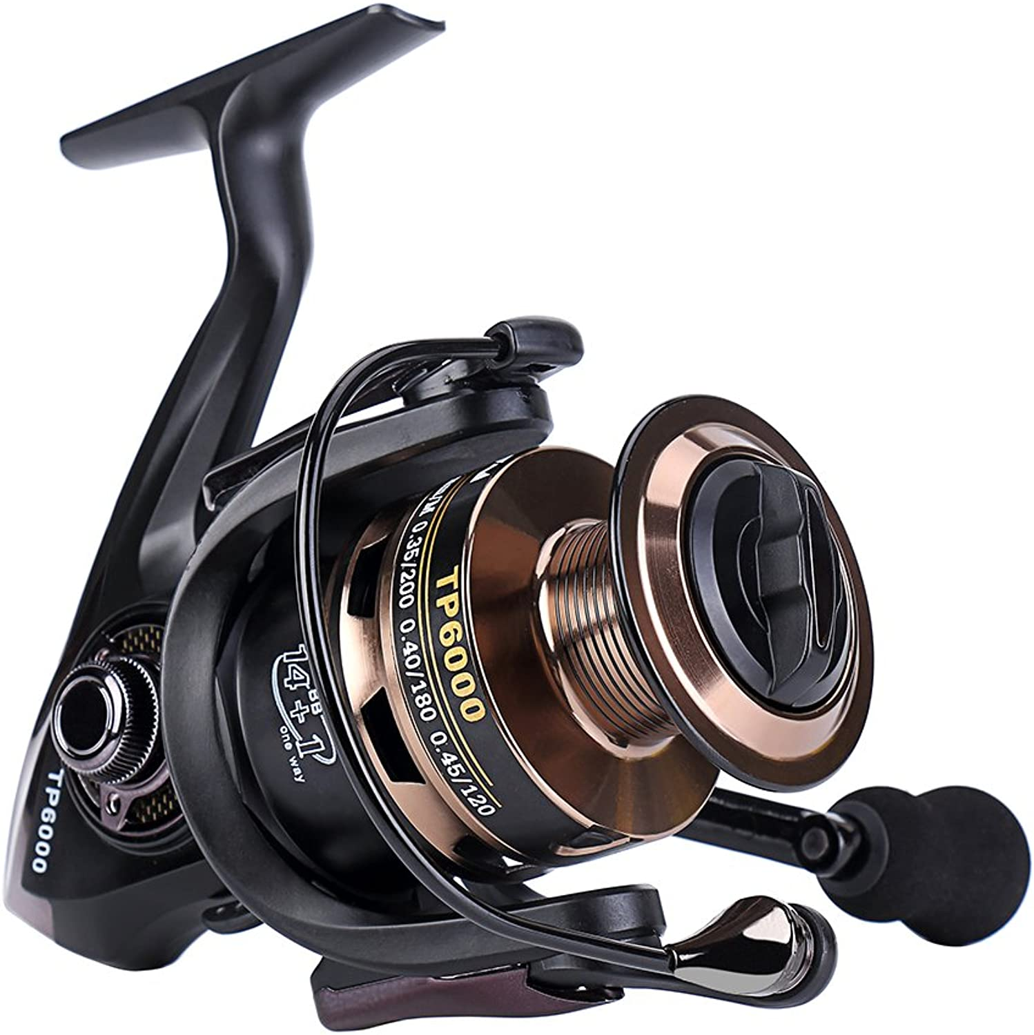 Gosccess Spinning Reel Left Right Interchangeable Spinning Fishing Reels 14+1 BB Saltwater Fishing Reel
