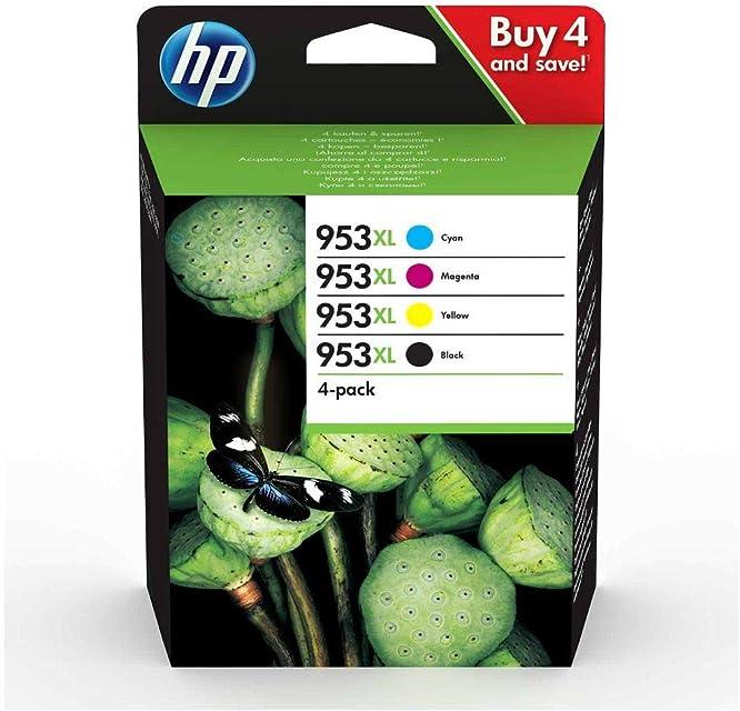 HP3HZ52AE 953XL Cartucho de Tinta Original de alto rendimiento 4 unidades negro cian magenta y amarillo