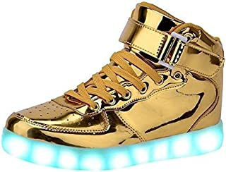 Aimee-Store 7 Farbe USB Aufladen LED Leuchtend Sport High Top Schuhe Sportschuhe Sneaker Turnschuhe für Unisex-Erwachsene ...